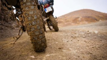 Riding offroad