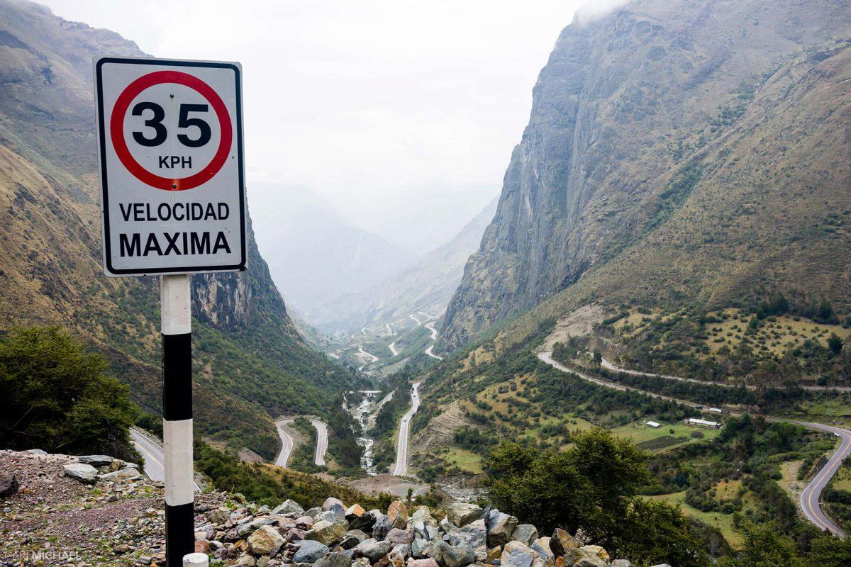 Mountain road Peru